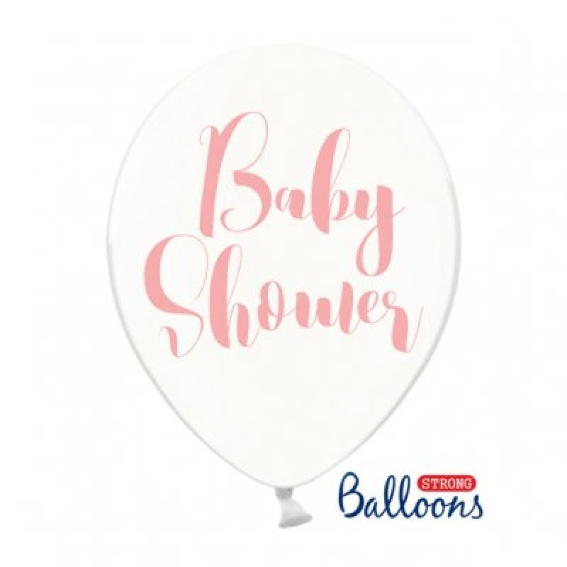 Baloni strong baby shower, crystal clear