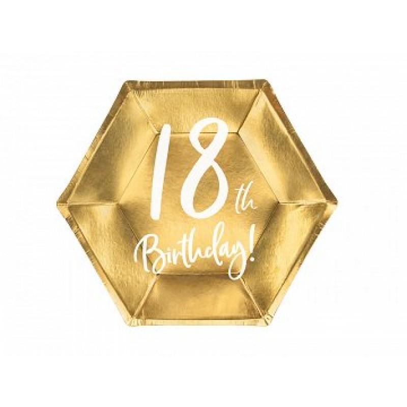 Krožniki 18th birthday zlati 6