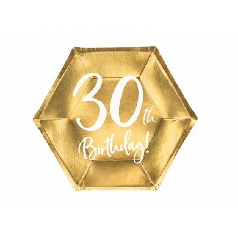 Krožniki 30th birthday zlati 6