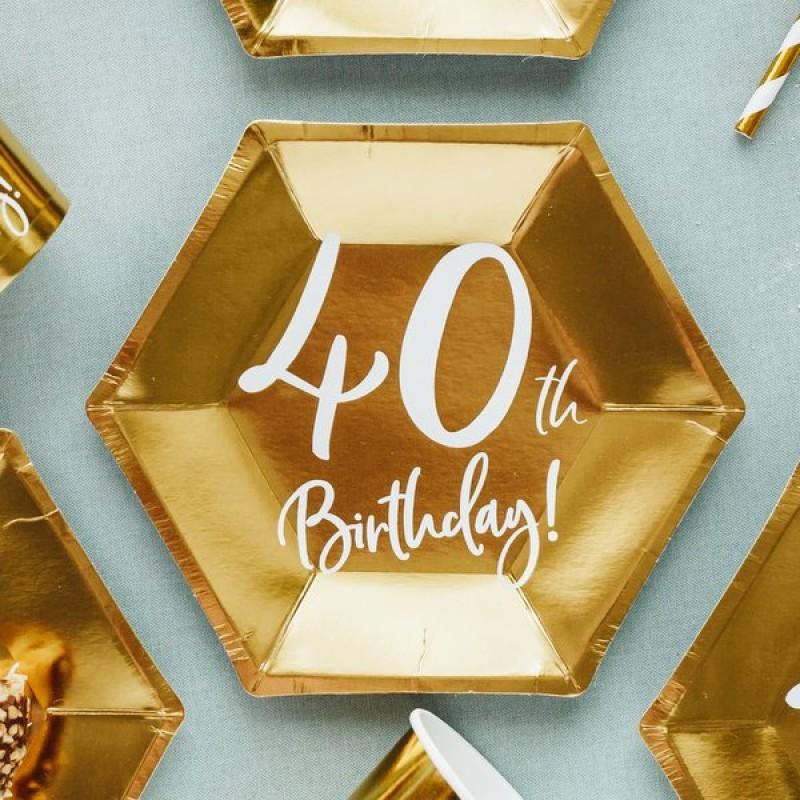 Krožniki 40th birthday zlati 6