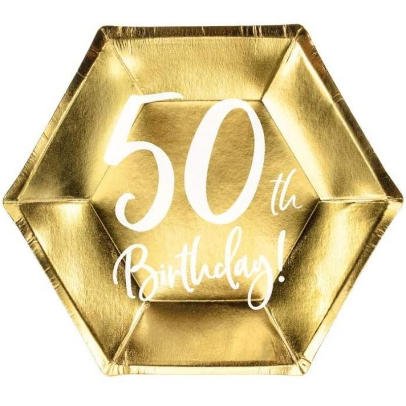 Krožniki 50th birthday zlati 6