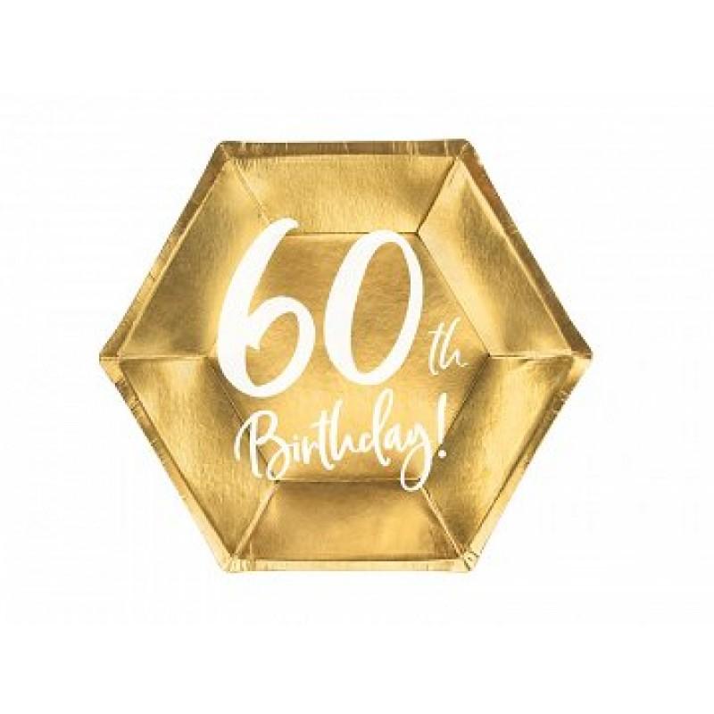 Krožniki 60th birthday zlati 6