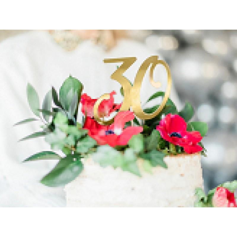 cake toper 30 zlati