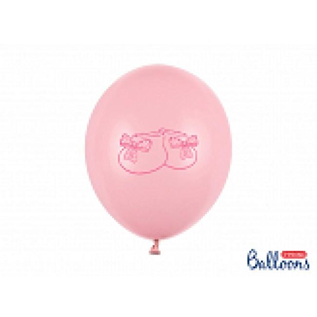 baloni pastel baby roza nogavičke 6 kom