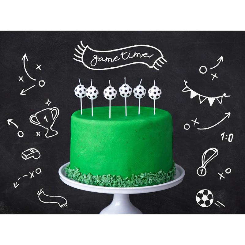 Birthday sveče nogometna žoga, 2.5cm