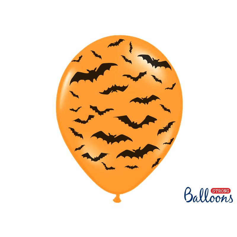 Strong  Balloons, potisk Halloween, lateks 6kom