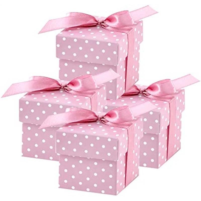 Škatlice, roza s pikami