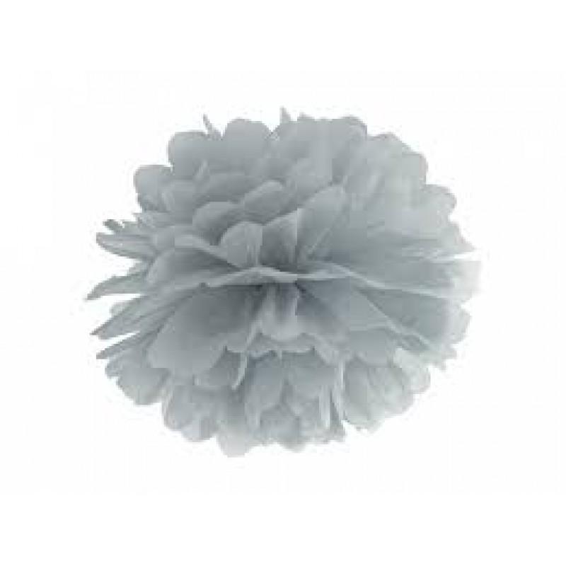 Blotting paper Pompom, silver, 35cm