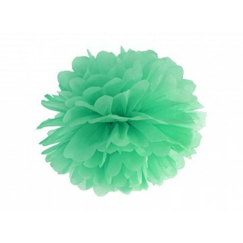 Blotting paper pompom, emerald green, 35cm