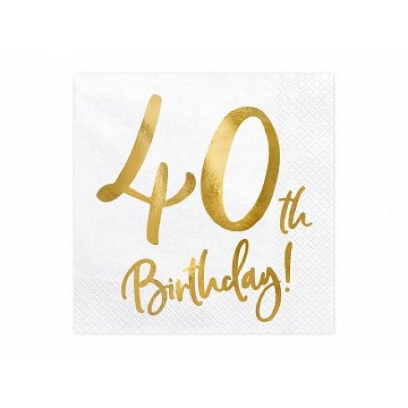 Serviete 40th birthday 20