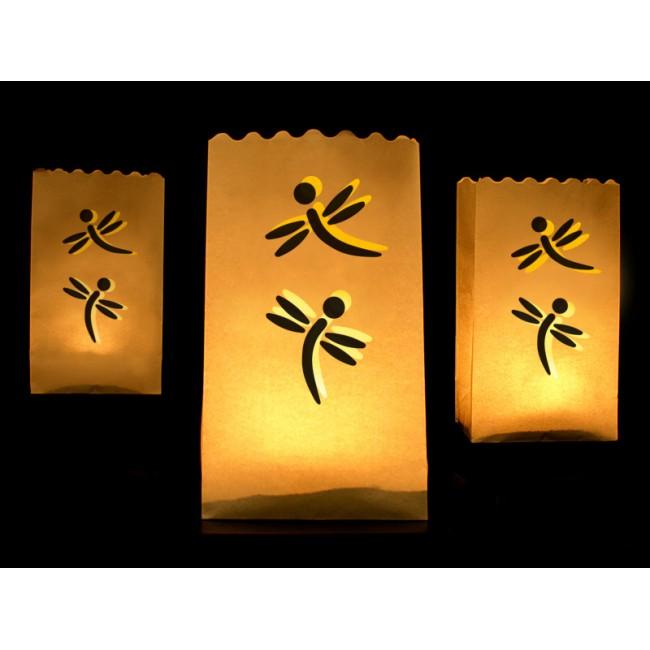 Lanterns, candle bags, 15 x 9 x 26cm