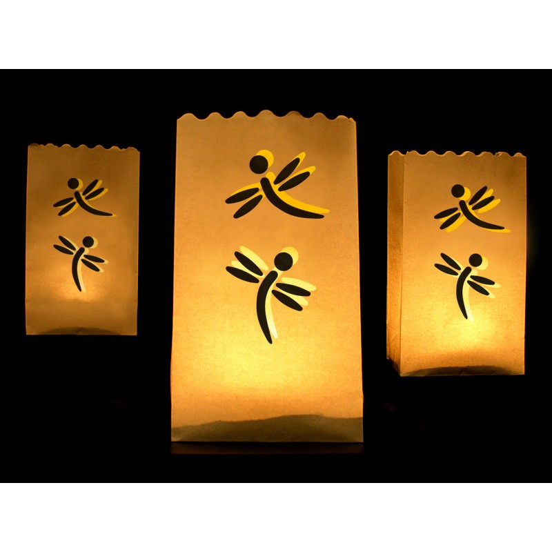 Lanterns, candle bags, 15 x 9 x 26cm