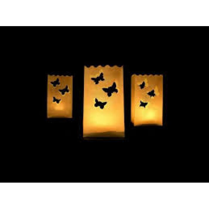 Lanterns, candle bags, 11 x 11 x 16cm
